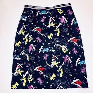 Ochirly 80's Graffiti Skirt, Sz S